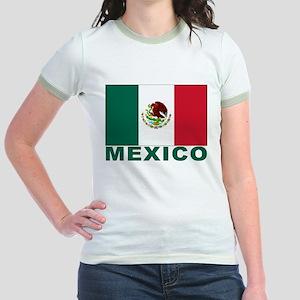 Mexico Flag Jr. Ringer T-Shirt