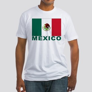 Mexico Flag Fitted T-Shirt