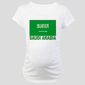 Saudi Arabia Flag Maternity T-Shirt