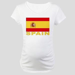 Spain Flag Maternity T-Shirt