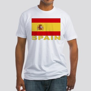 Spain Flag Fitted T-Shirt