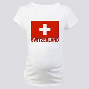 Switzerland Flag Maternity T-Shirt