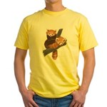 Red Pandas Yellow T-Shirt