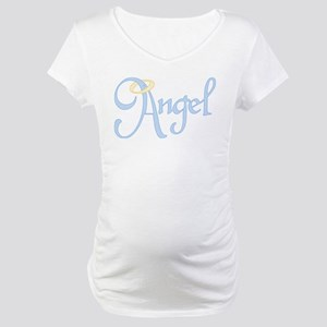 Angel Text Maternity T-Shirt