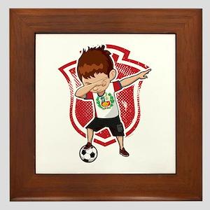 Football Dab Peru Peruvian Footballer Framed Tile