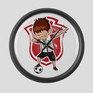 Football Dab Peru Peruvian Footba Large Wall Clock