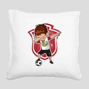 Football Dab Peru Peruvian Fo Square Canvas Pillow