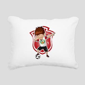 Football Dab Peru Peruvi Rectangular Canvas Pillow