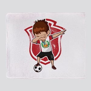 Football Dab Peru Peruvian Footballe Throw Blanket