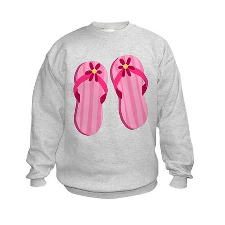 Pink Flip Flops Kids Sweatshirt