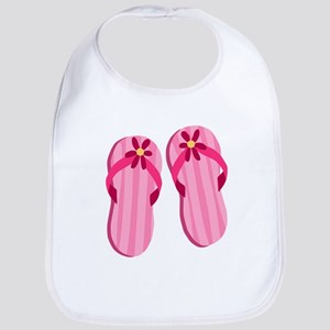 Pink Flip Flops Bib