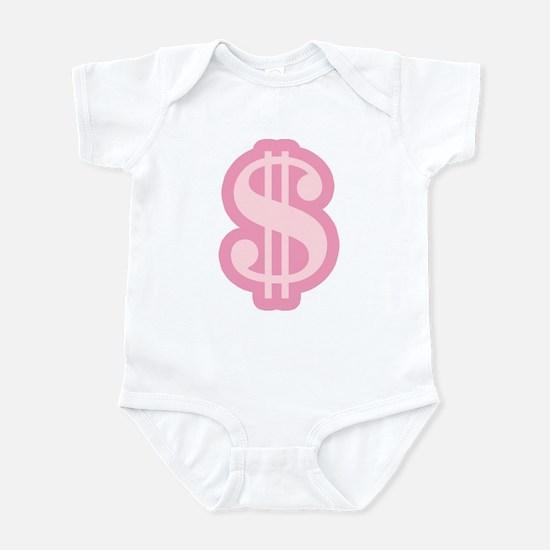Pink Dollar Sign Infant Bodysuit