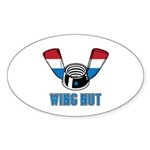 Wing Nut Oval Sticker (50 pk)