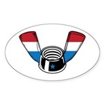 Wing Nut Oval Sticker (10 pk)