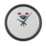Wing Nut Large Wall Clock