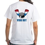 Wing Nut White T-Shirt (2 SIDED)