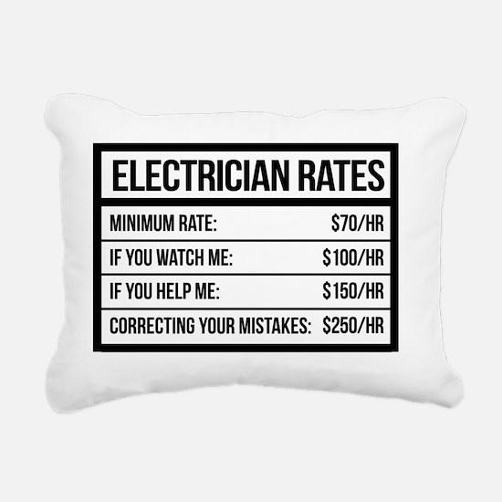 Cute Electrician Rectangular Canvas Pillow