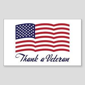 Thank A Veteran Rectangle Sticker