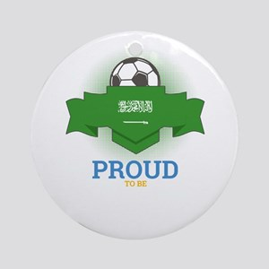 Football Saudis Saudi Arabia Soccer Round Ornament