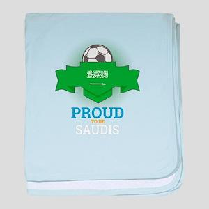 Football Saudis Saudi Arabia Soccer T baby blanket