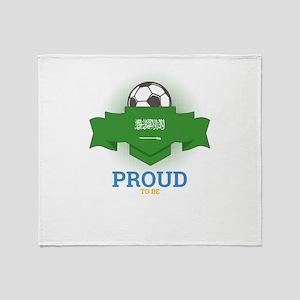 Football Saudis Saudi Arabia Soccer Throw Blanket