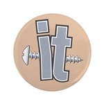 "Screw it 3.5"" Button (100 pack)"