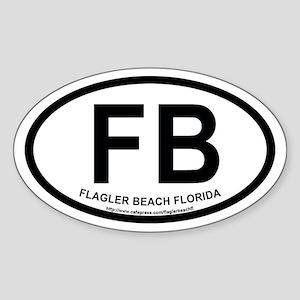 Flagler Beach, Florida Oval Sticker
