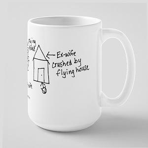 Flying House Large Mug