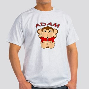 Adam Cartoon Monkey Light T-Shirt