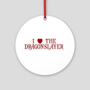 I LOVE COACH I LOVE THE DRAGO Ornament (Round)