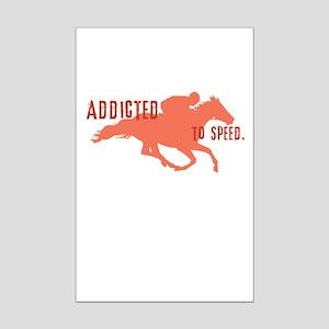 Race Horse Mini Poster Print