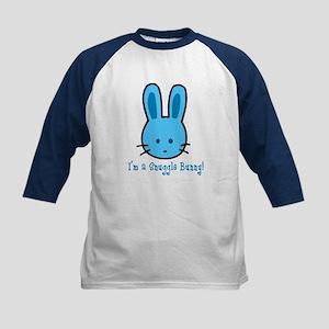 Blue Snuggle Bunny Kids Baseball Jersey