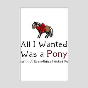 All I Wanted Was A Pony Mini Poster Print