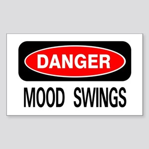 Danger Mood Swings Rectangle Sticker