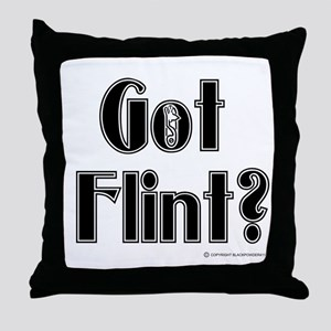 Got Flint? Throw Pillow