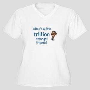 Few Trillion Women's Plus Size V-Neck T-Shirt