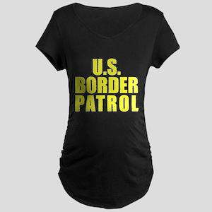 U.S. Border Patrol Maternity Dark T-Shirt