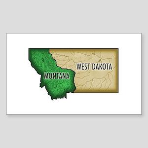 West Dakota Rectangle Sticker