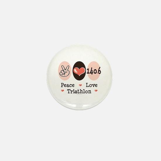 Peace Love Triathlon 140.6 Mini Button
