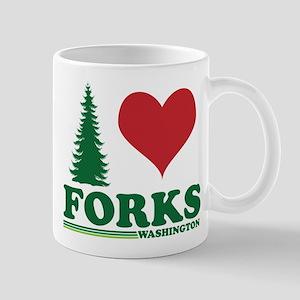I Love Forks Washington Mug