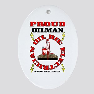 Oil Rig Electrician Oval Ornament,Oil Rig