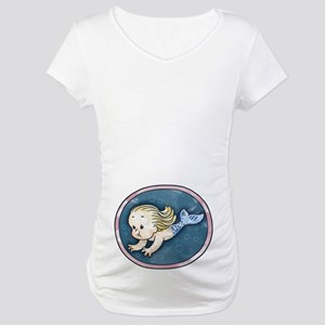 Mermaid -blonde Maternity T-Shirt