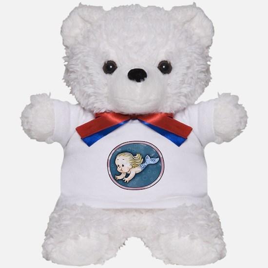 Mermaid -blonde Teddy Bear
