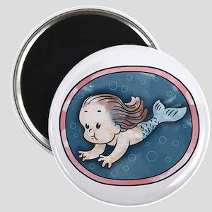 Mermaid -brunette Magnet