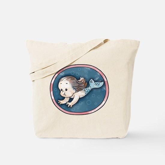 Mermaid -brunette Tote Bag