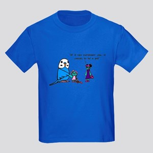 Funny Pet Proverb Comic Kids Dark T-Shirt
