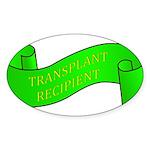 Transplant Recipient Oval Sticker (50 pk)