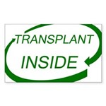 Transplant Inside Rectangle Sticker