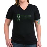 Transplant Inside Women's V-Neck Dark T-Shirt