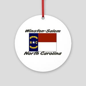 Winston-Salem North Carolina Ornament (Round)